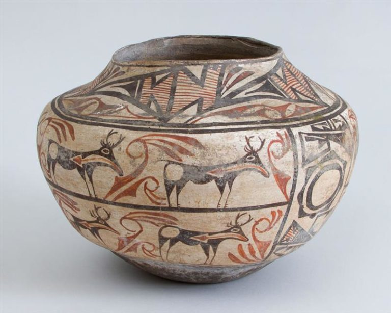 Zuni Polychrome Pottery Pot
