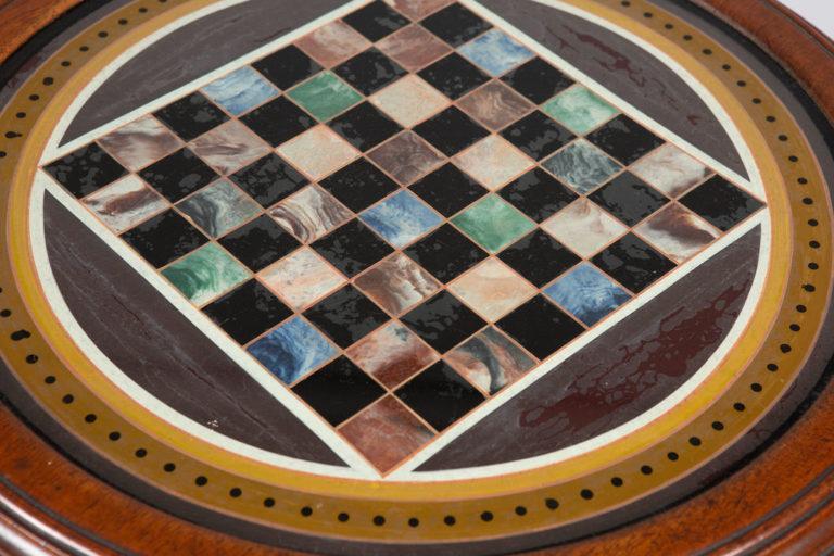 English Walnut Games Table