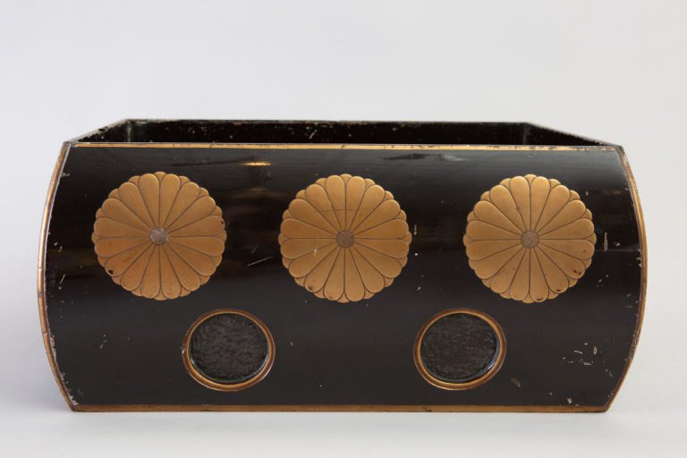 Japanese Antique Black Lacquer Sutra Box