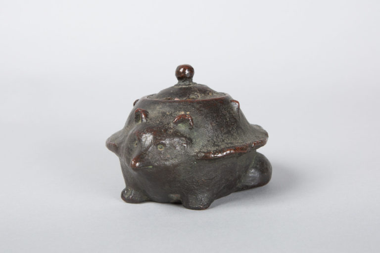 Japanese Bronze Koro (Incense Burner) in the Form of a Badger