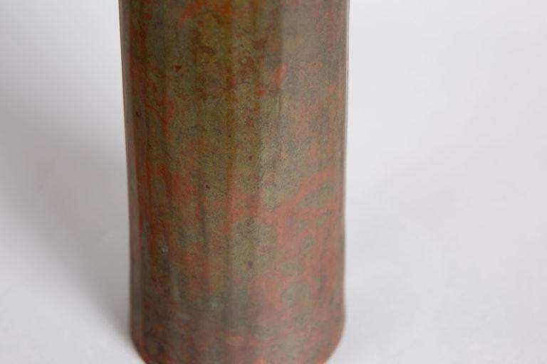 Japanese Bronze Tall Modern Vase