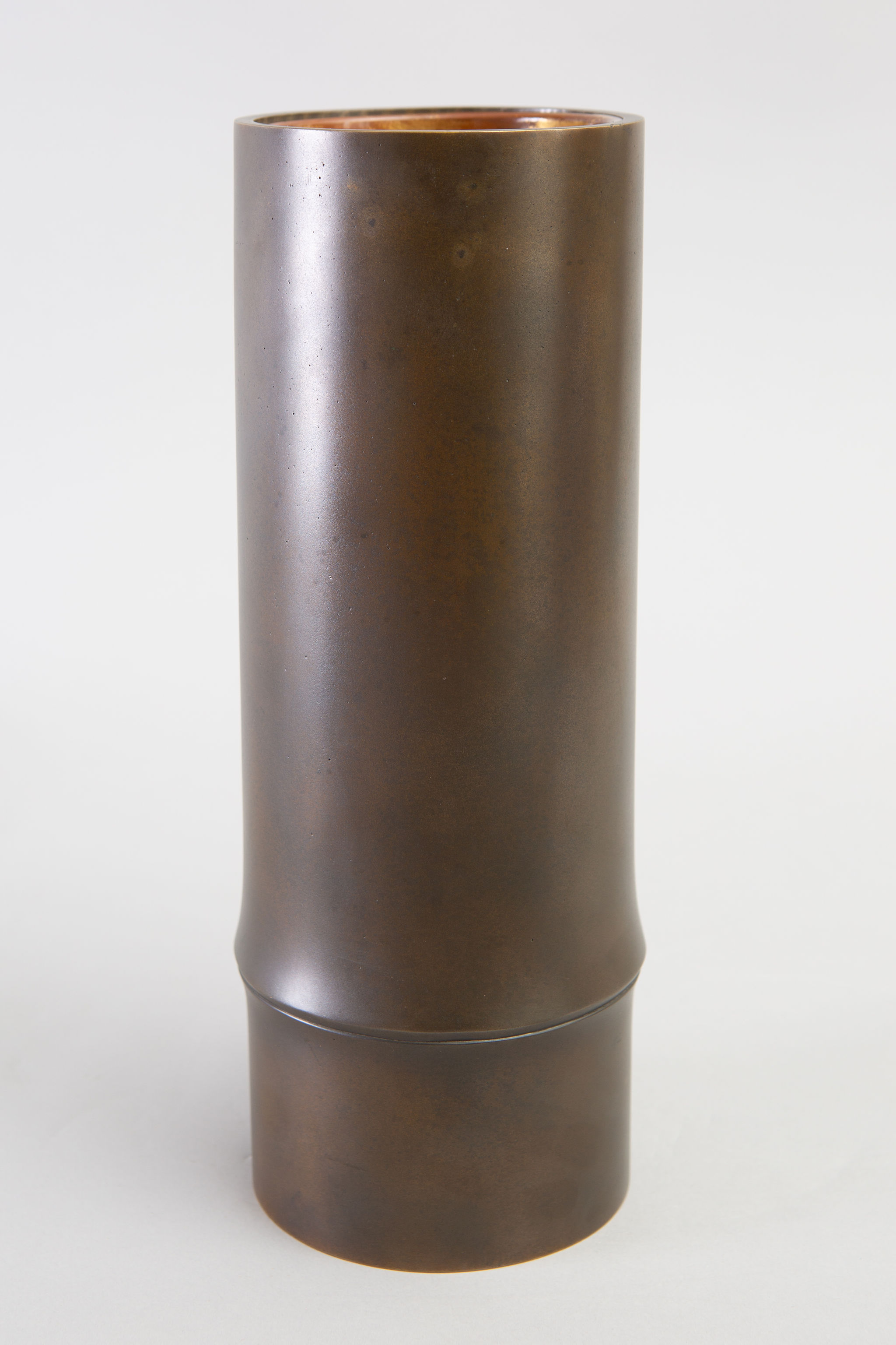 Japanese Bronze Vase in Bamboo Form