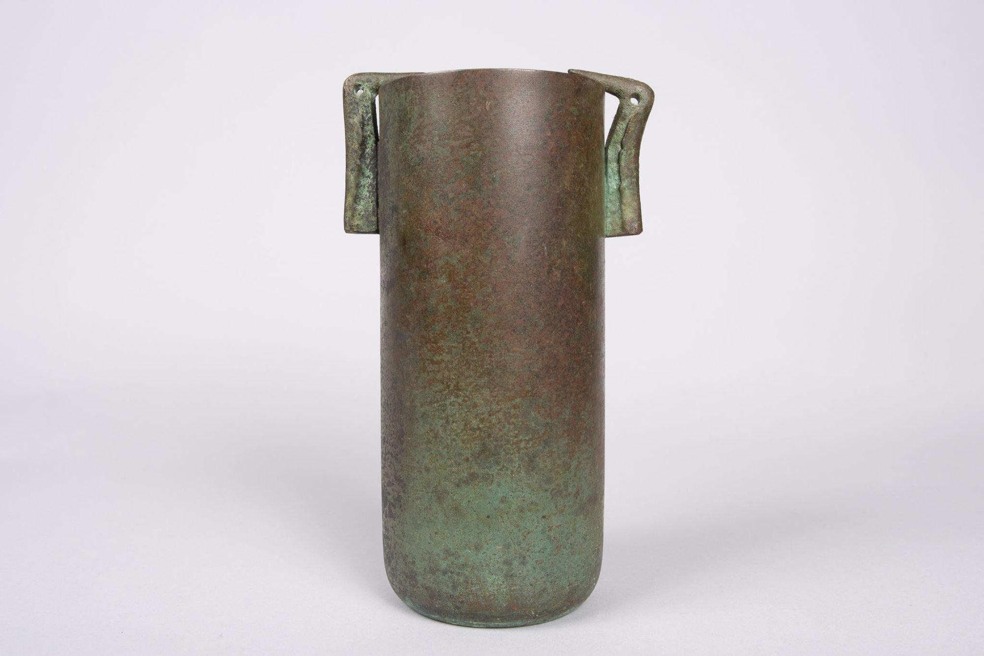 Japanese Bronze Vase with Bird Handles