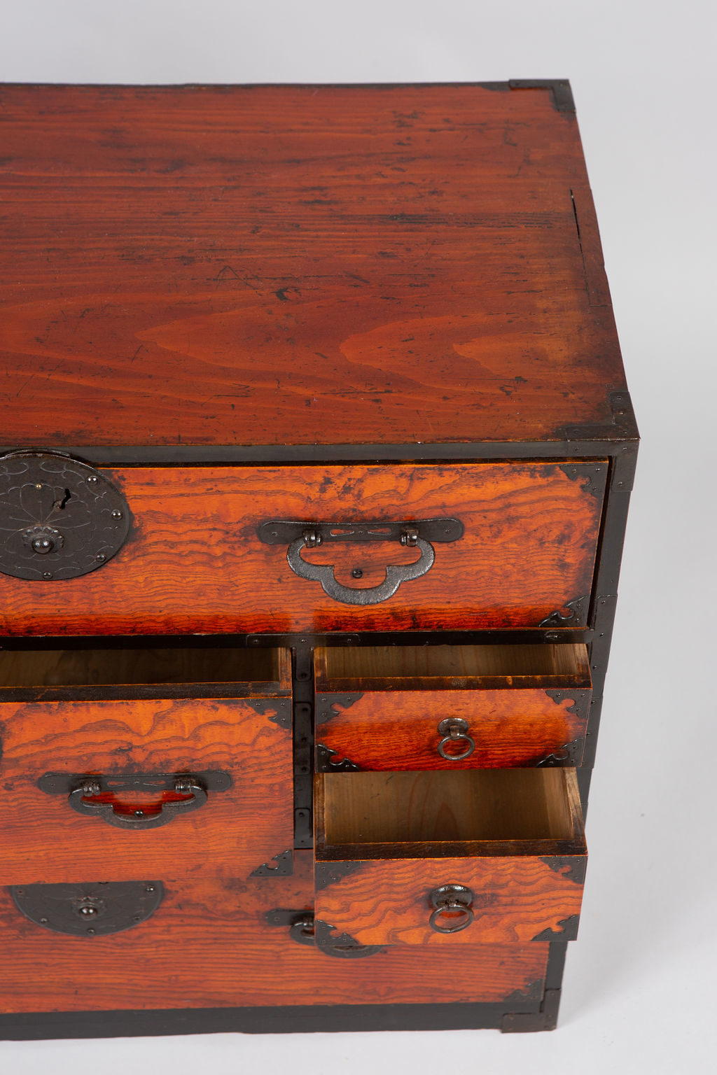 Japanese Elm Tansu Small Chest
