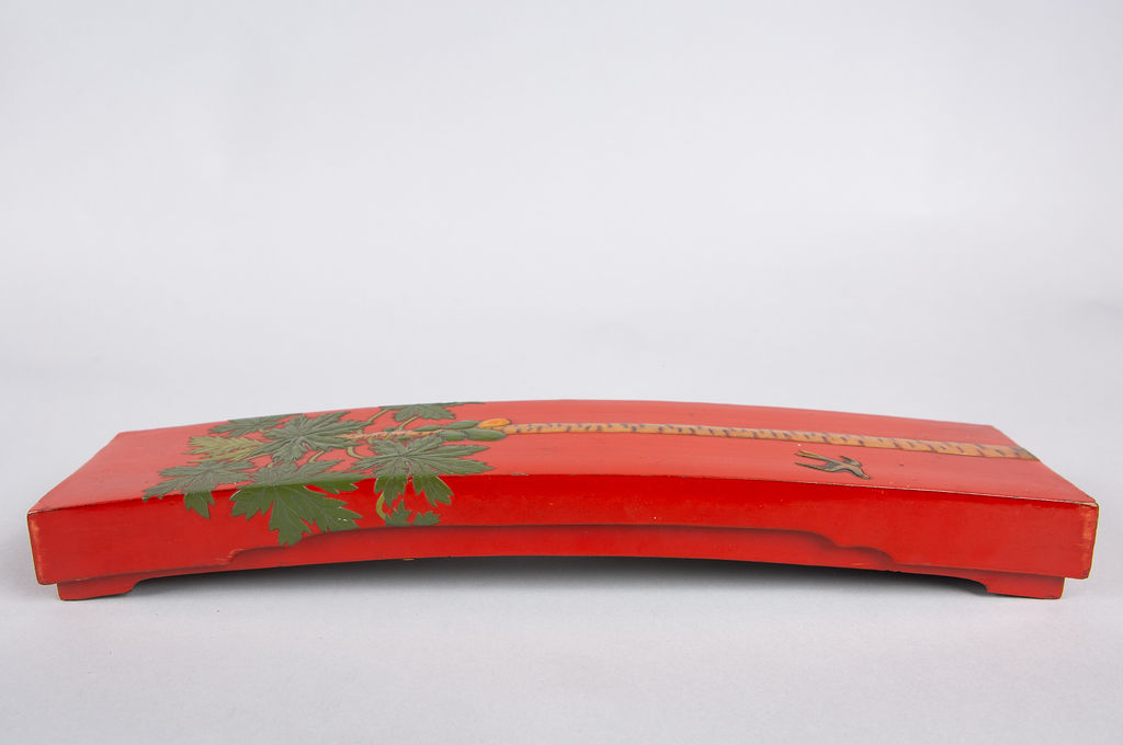 Japanese Red Lacquer Document Box