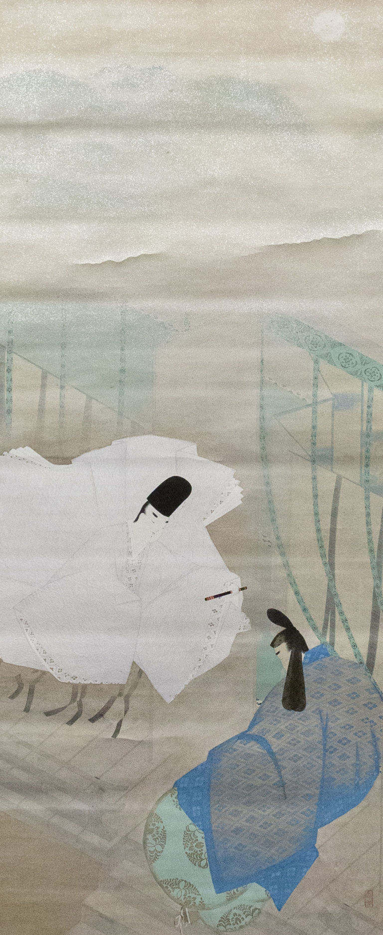Japanese Scroll: Scene From the Tale of Genji