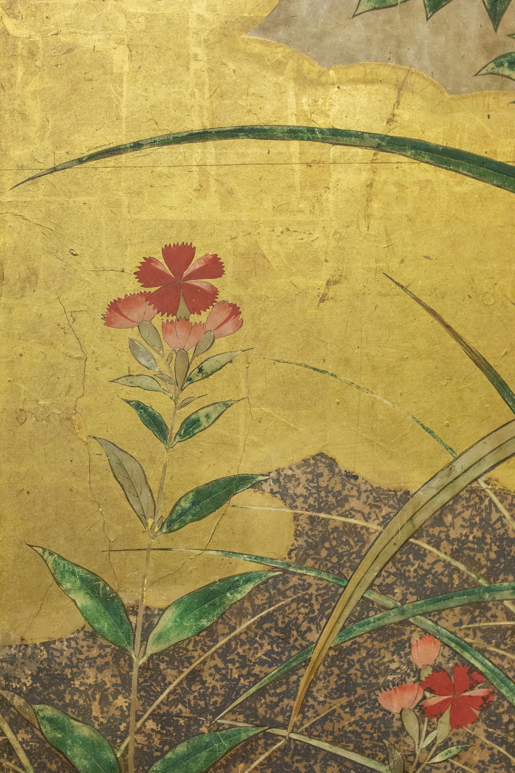 Japanese Six Panel Screen: Winter Into Spring