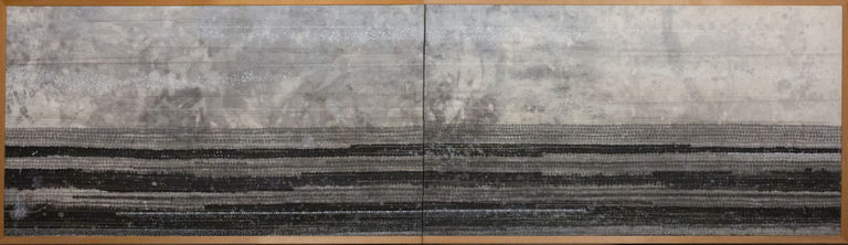 Japanese Two Panel Screen: Contemporary Furosaki Screen (Tea Screen)