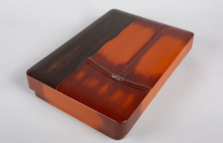 Japanese Wooden Letter Box in Bamboo Design