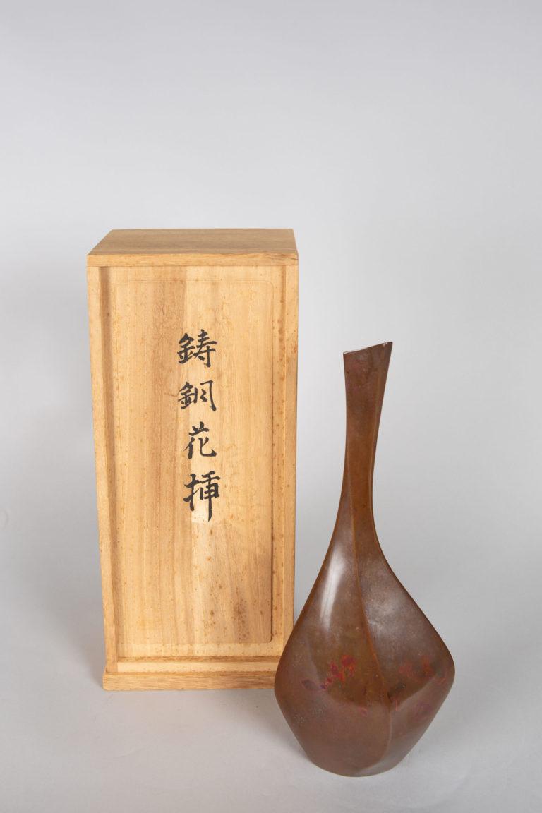 Modern Japanese Bronze Bud Vase