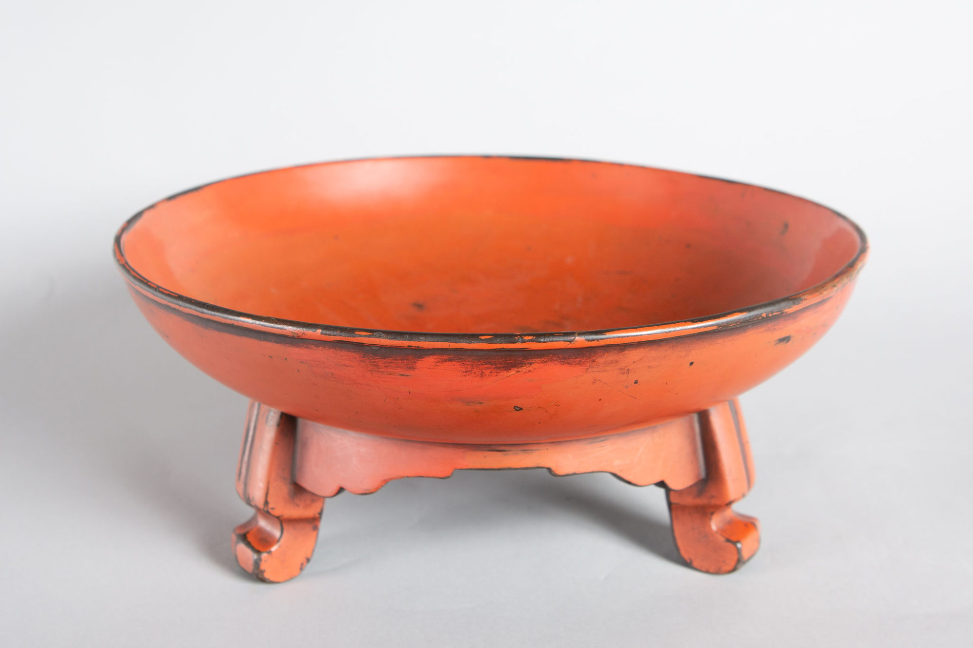 Negoro Lacquer Footed Bowl