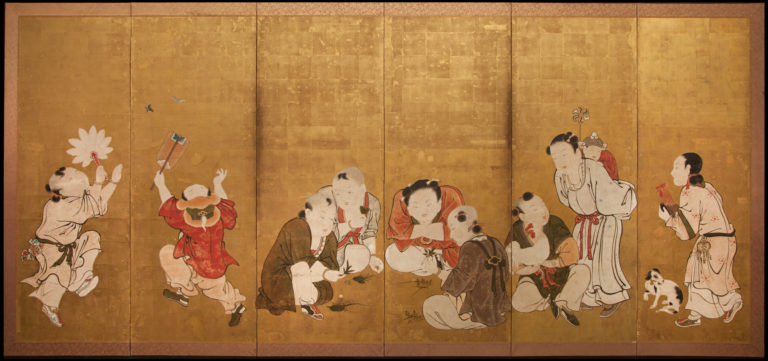 Japanese Six Panel Screen: Karako (Chinese Children)
