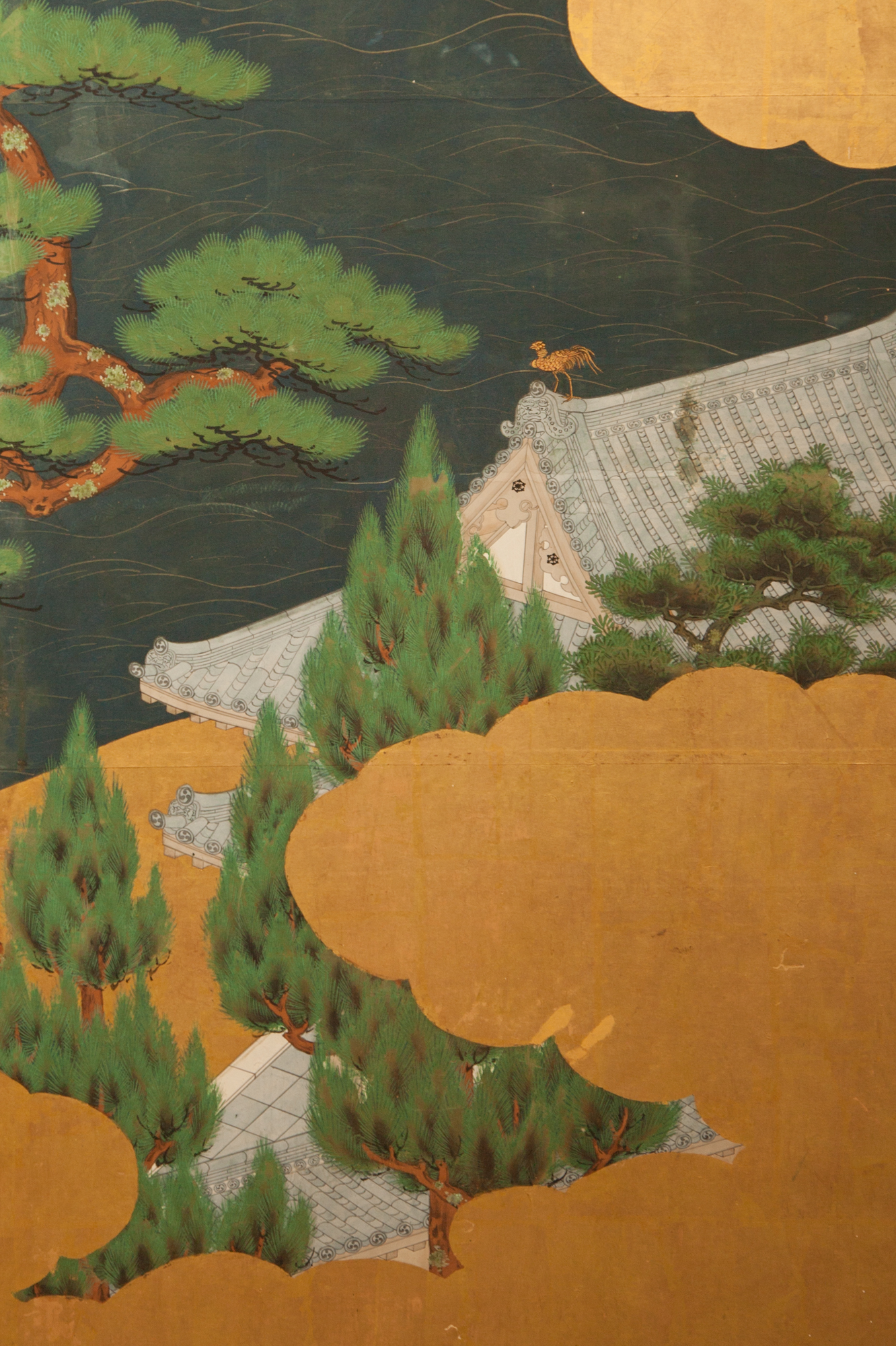 Japanese Six Panel Screen: Battle of Uji Bridge