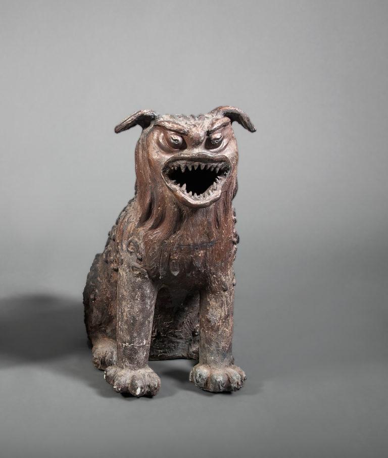 Japanese Bizen Kiln Lion