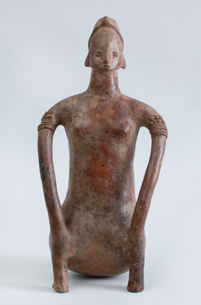 Proto-Classical (50 BC – 250 AD) Pottery Figure of a Seated Female