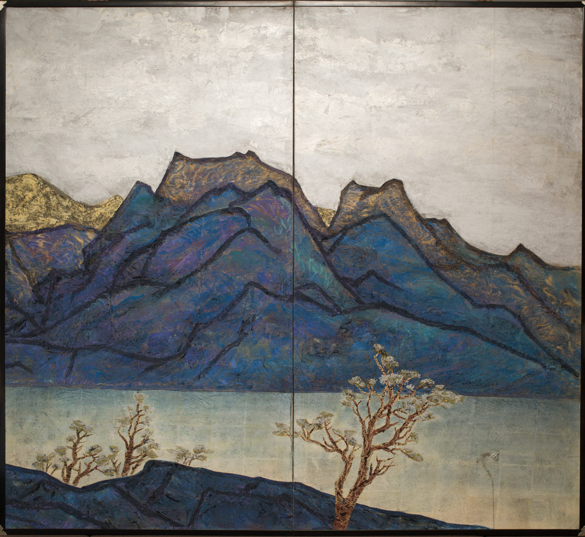 Japanese Two Panel Screen: Seiko (Sunny Lake)