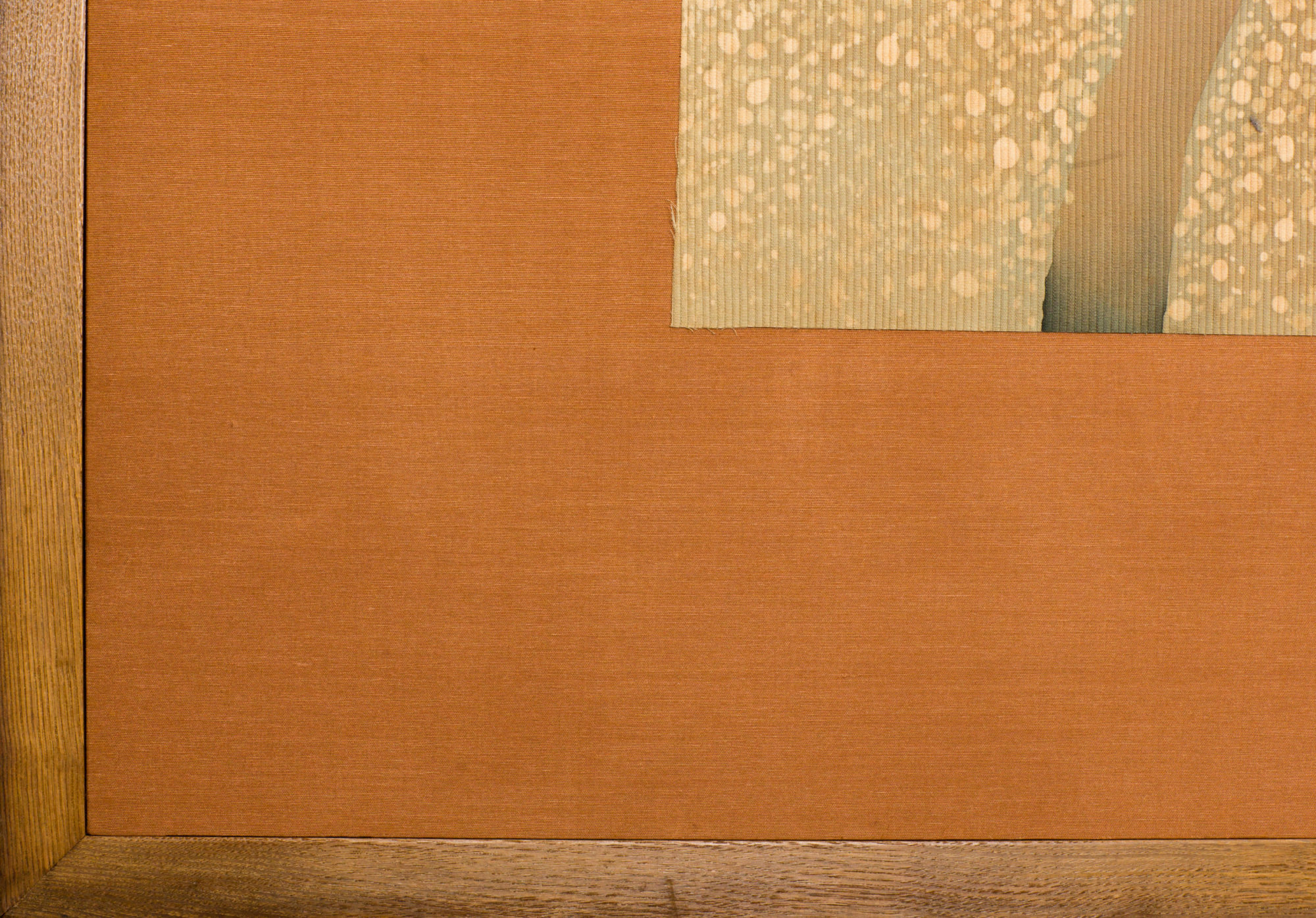 Japanese Two Panel Screen: Winter Vines