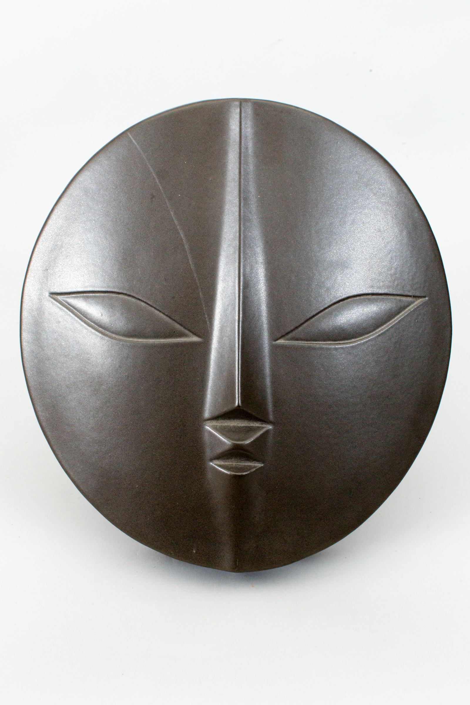 Wall Hanging Ceramic Sculpture of a Mask