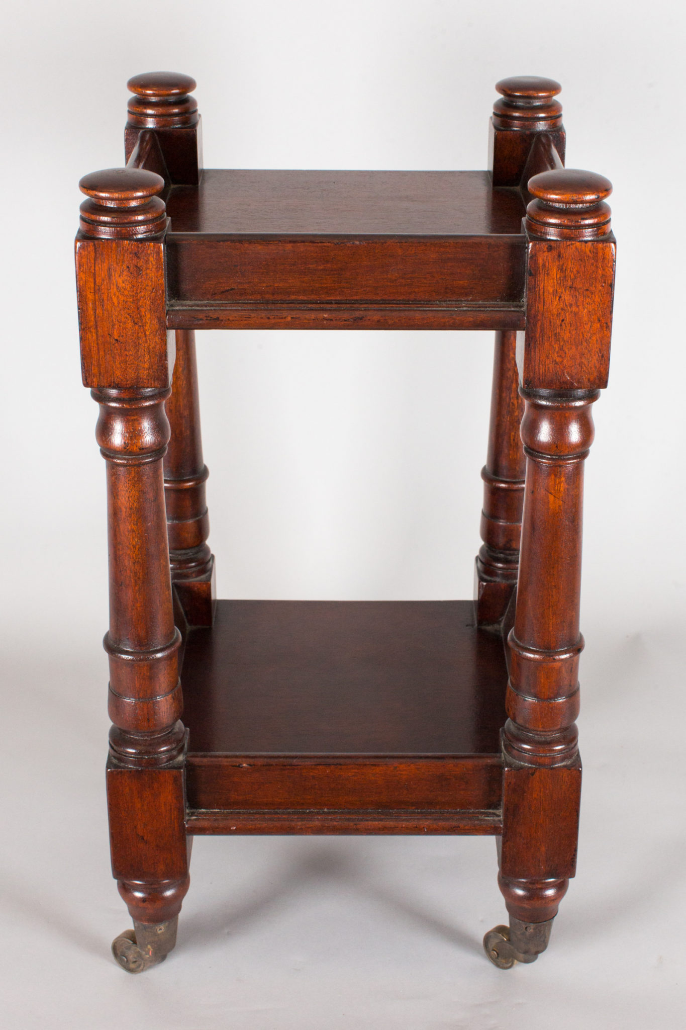 Custom Oxford Mahogany Trolley Table