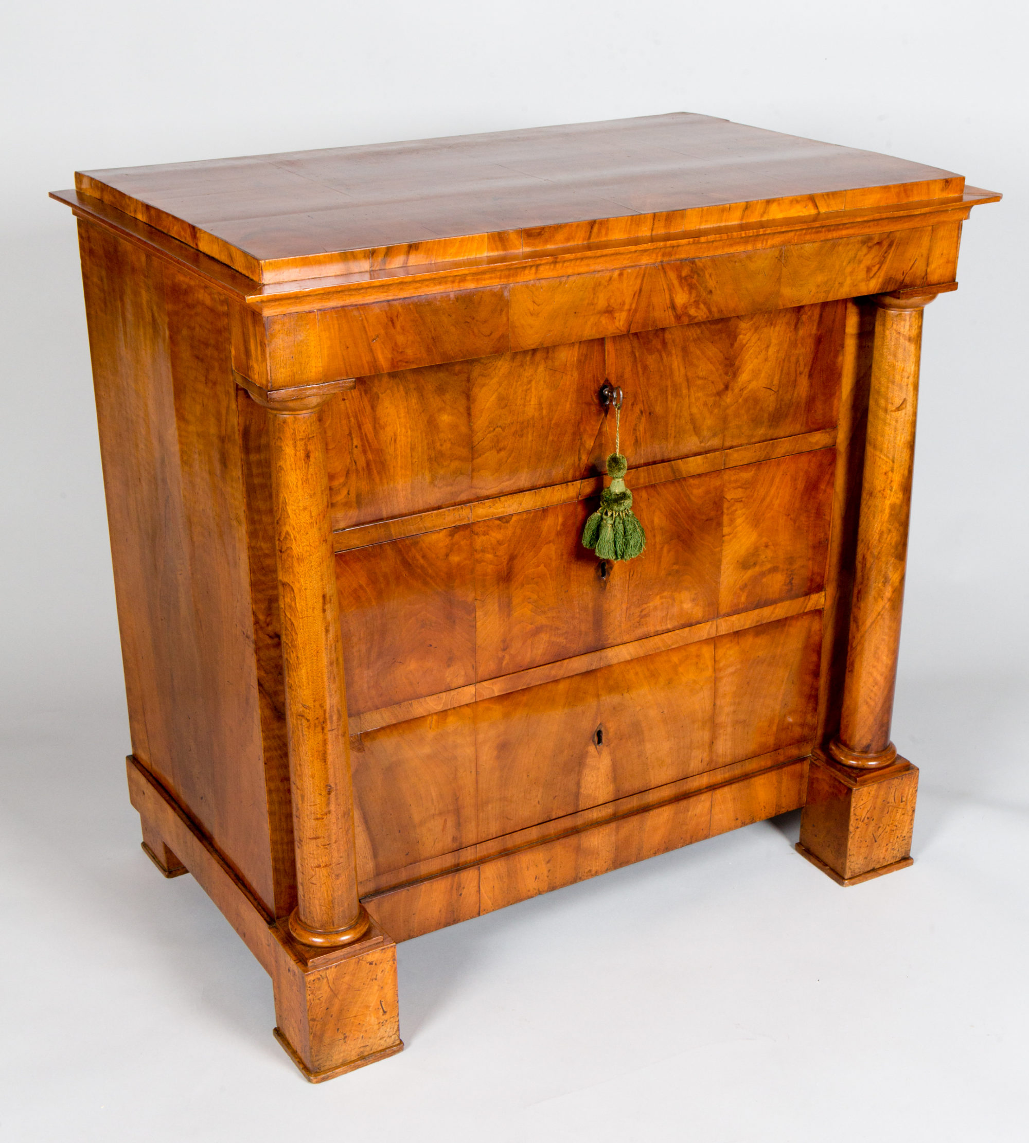 German Biedermeier Walnut Chest of Drawers