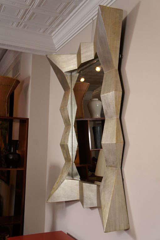 Large Modern Silver Mirror