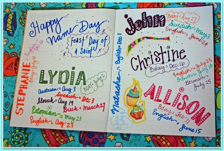 Celebrate Your Own Name Day! - Nameberry - Baby Name Blog