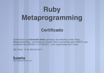 Certificado gerado com Prawn