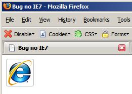 Código acima visualizado no Firefox