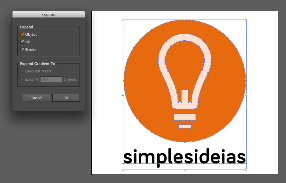 Expandindo gráficos no Illustrator