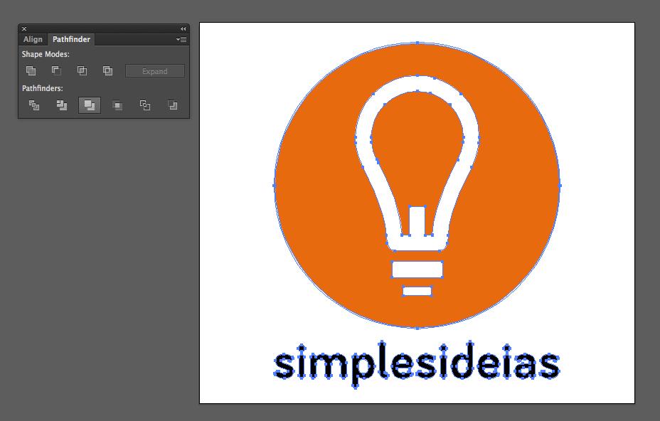 Fazendo merge das partes do gráfico no Illustrator