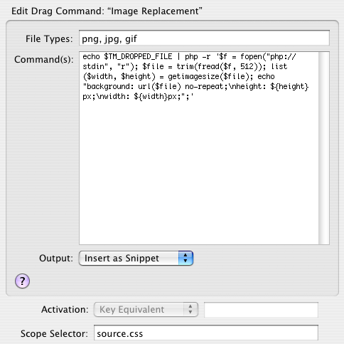Snippet para Image Replacement no Textmate