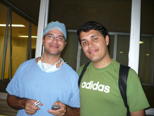 Eu e Jeff depois do parto