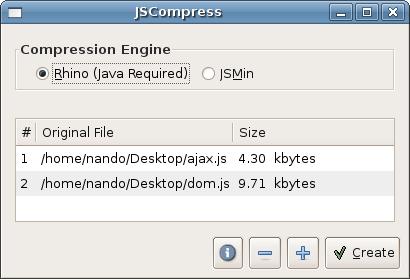 Interface do JSCompress