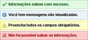 Exibindo mensagens para o usuário