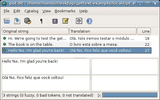 poEdit: Translated Strings
