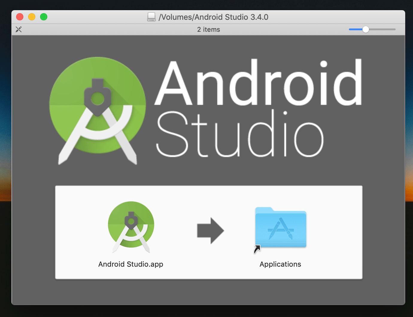 Android Studio: Movendo o app para o diretório /Applications