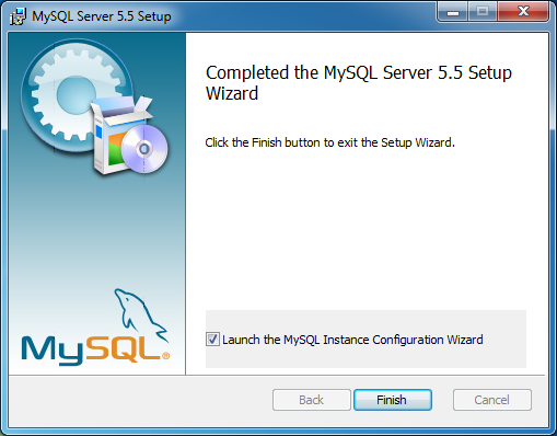 Tela final do instalador do MySQL