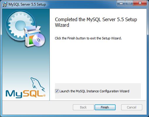 Tela final do instalador do MySQL