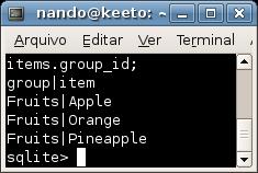 Consulta no SQLite