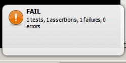 Notificação exibida no Windows quando algum testa falha