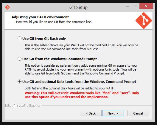 Instalador do Git - Instalando ferramentas Unix