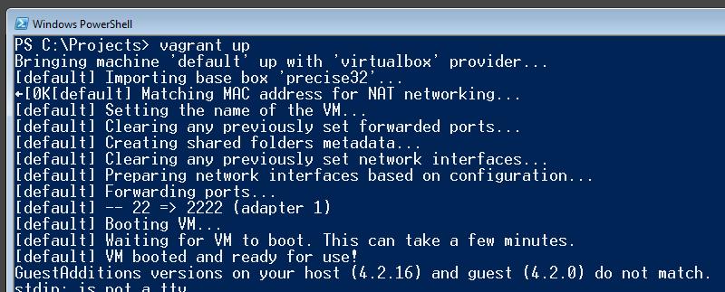Iniciando o servidor virtual