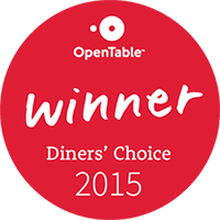 Winner of 2015 Open Table Dinner's Choice