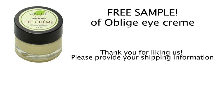 FREE Oblige Eye Creme Sample..