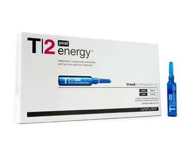 T2 Energy Post (Против выпадения) Ампулы для нормальной кожи головы. После шампуня 4 ампулы по 8 мл