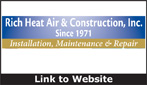 Website for Rich Heat-Air & Construction, Inc.