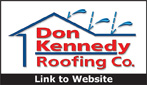 Website for Don Kennedy Roofing Company, Inc.