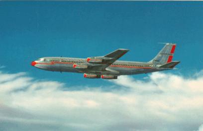 Boeing 707 postcard