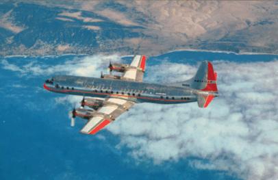 Lockheed Electra postcard
