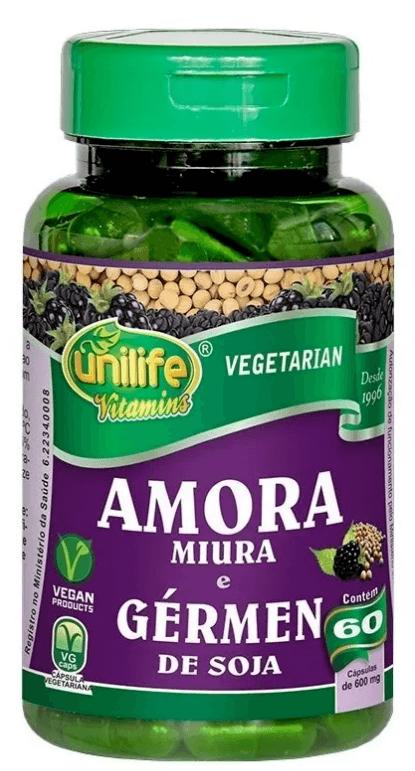 Amora Miura E Gérmen De Soja 60 Cápsulas 550mg Unilife